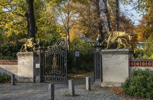 gate entrance  fence  gateway
