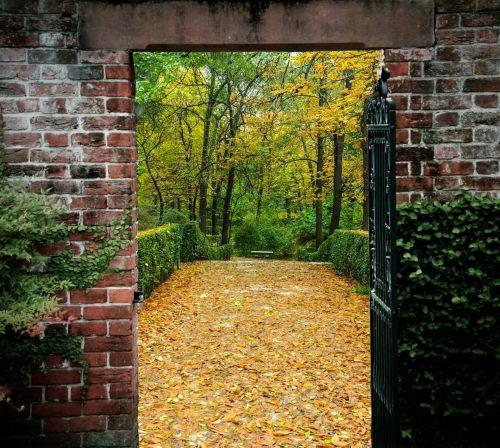 Gate To Autumn Garden