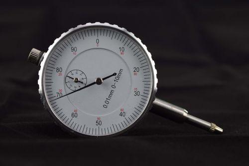 gauge close white