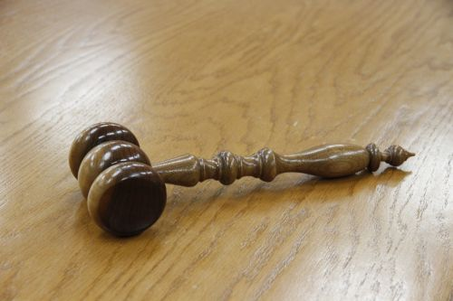 gavel wood courtroom