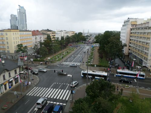 gdynia street view from above