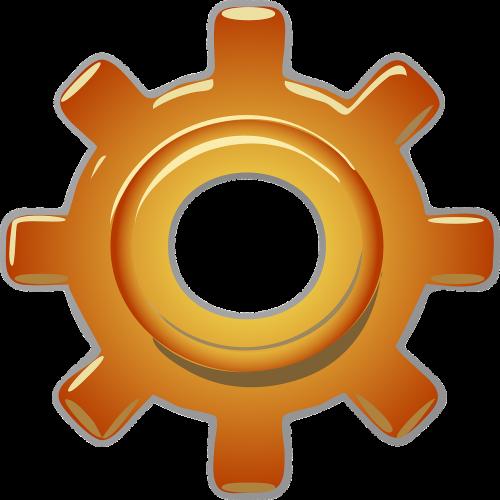 gear copper industrial