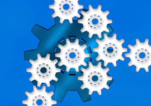 gear gears blue