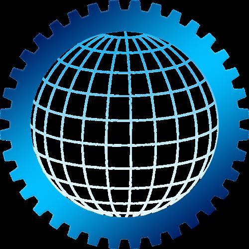 gear globe grid