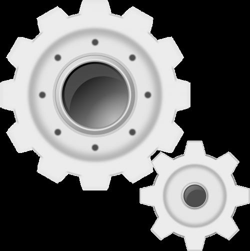 gears white machine
