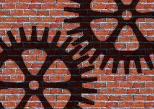 gears wall stones