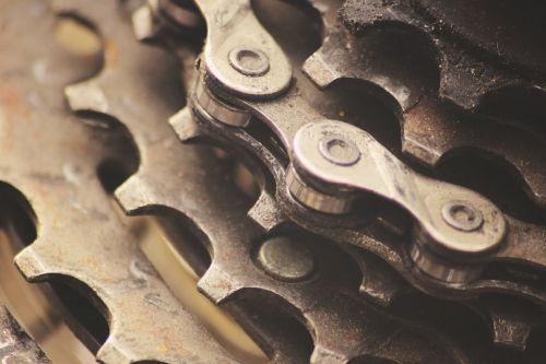 gears chains bike