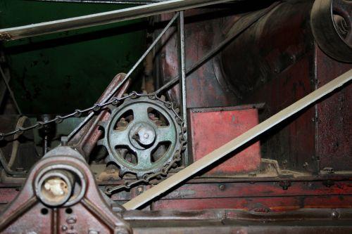 Gears & Pulleys On Old Farm Machine