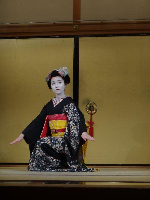geiša,kyoto,kultūra,centrinis,Japonija,žaisti,kimono,makiažas