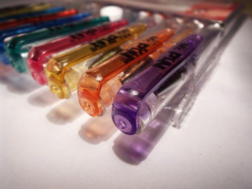 pencil gel pencil color drawing