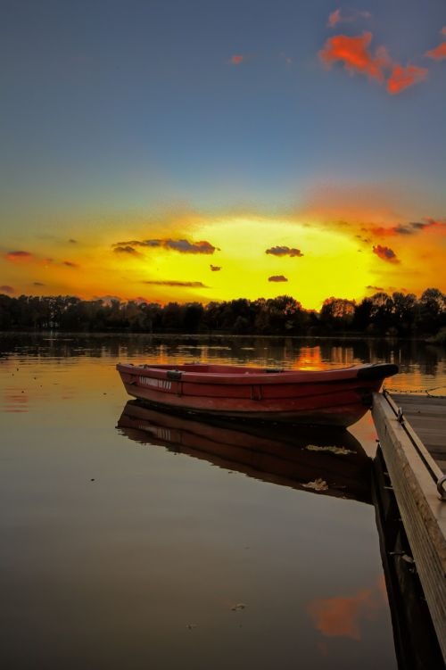 gelsenkirchen berger lake evening