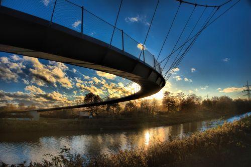 gelsenkirchen sickle bridge rhine herne canal