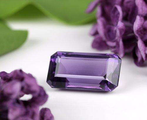 gem  octagon  purple