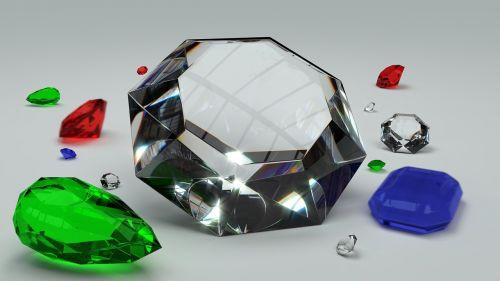 gems diamond emerald