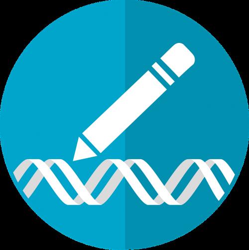 gene editing icon crispr icon genetic engineering icon