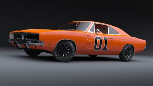 general lee dodge charger muscle car