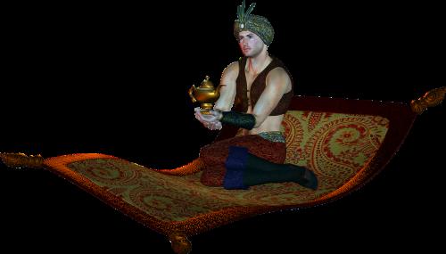 genie aladdin lamp