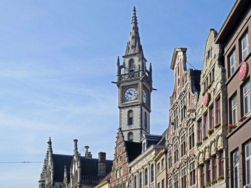 gent historic gable clock tower