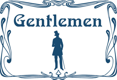 gentleman gentlemen toilet