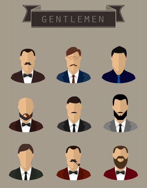gentlemen face male