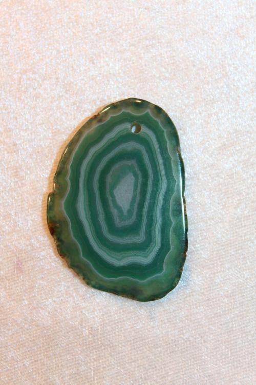 geode stone pendant