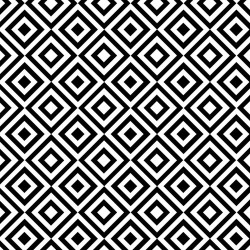 Geometric Seamless Black & White