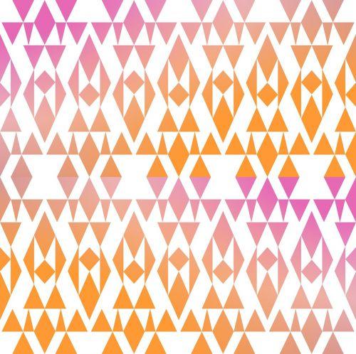 geometric abstract orange