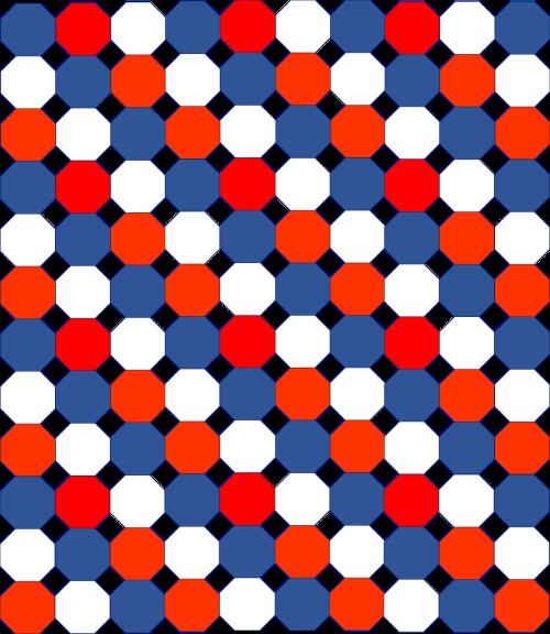 geometric design red