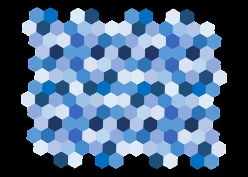 geometric blue shades