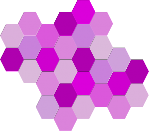 geometric hexagons purple
