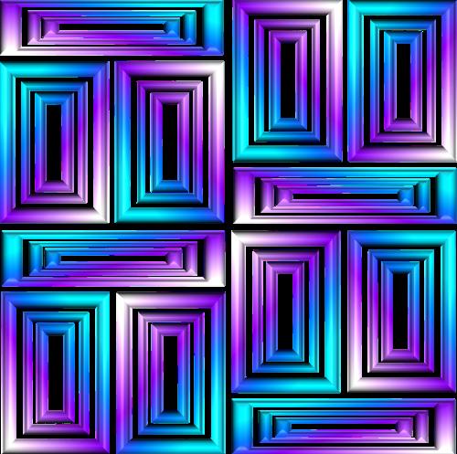 geometric 3d metallic