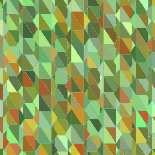 geometric green triangles