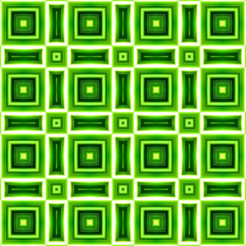 geometric pattern green