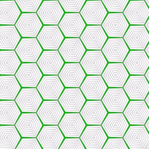 geometric beehive pattern green
