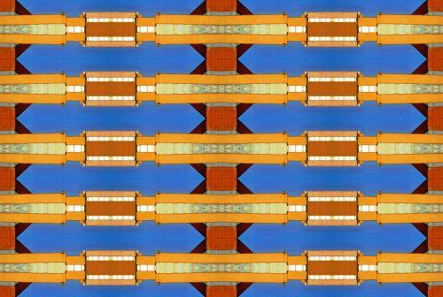 Geometric Bar Pattern