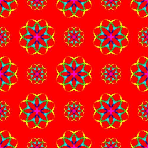 Geometric Circles Seamless Pattern