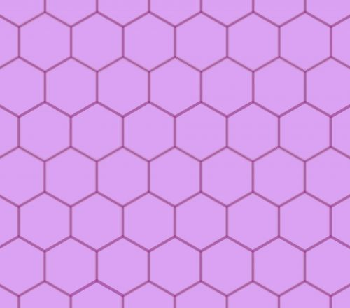 Geometric Honeycomb Purple Pattern