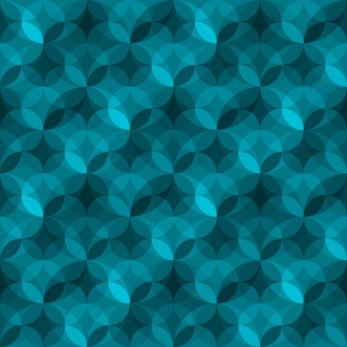 Geometric Pattern Aqua