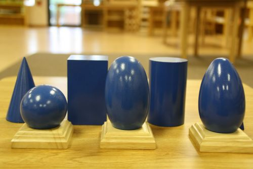 geometric solids montessori shapes