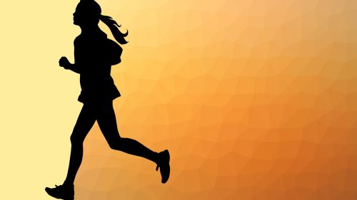 Geometric Woman Runner