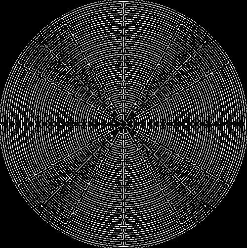 geometrical maze round