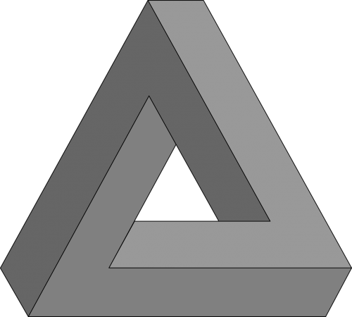 geometry impossible triangle optical illusion