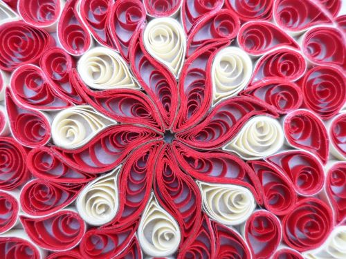 geometry filigree red