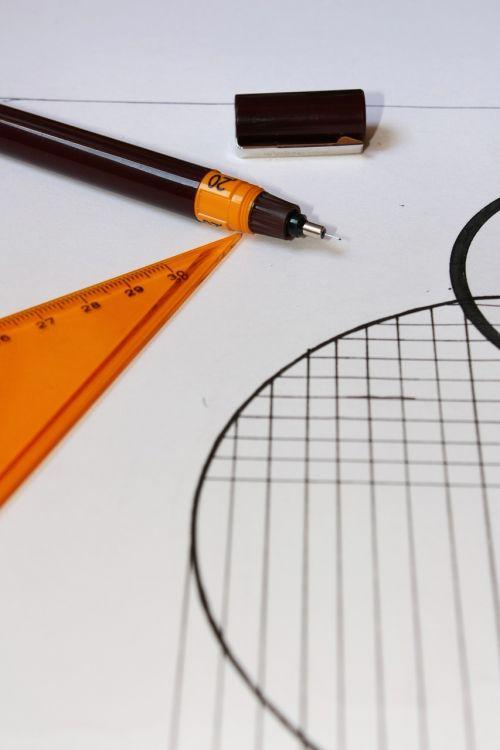 geometrija,rašiklis,dizaineris,darbas