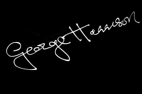George Harrison's Autograph