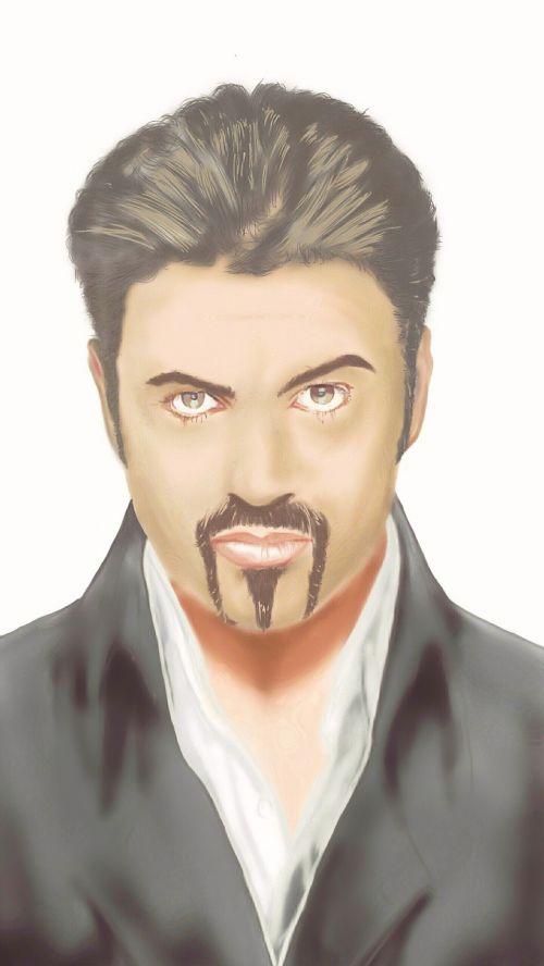 george michael graphics portrait