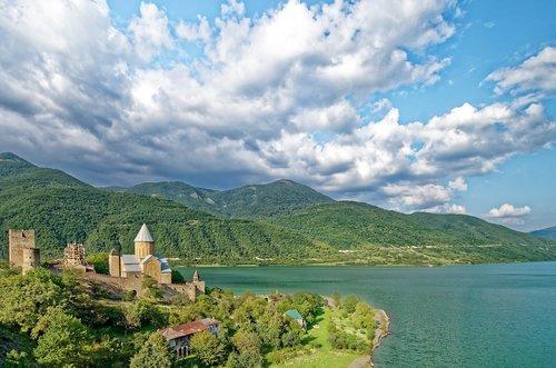 georgia  castle ananuri  fortress