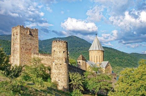 georgia  castle ananuri  church of the redeemer
