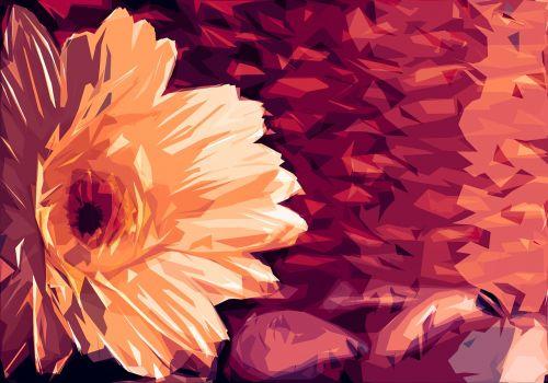 gerbera flower pebbles