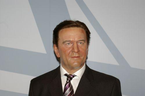 gerhard schröder politician wax
